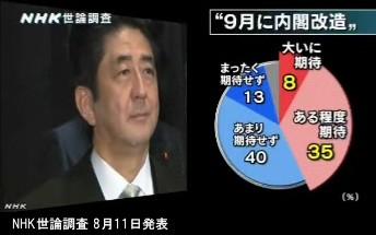 NHK世論調査 8月_内閣支持率_NHKニュース画像08
