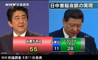 NHK世論調査 8月_内閣支持率_NHKニュース画像09