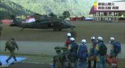 御嶽山 ヘリで頂上周辺の捜索に出発_NHK9月29日9時05分