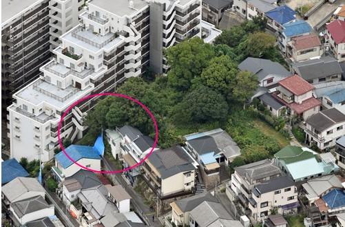 生田美玲ちゃんの遺体発見現場(航空写真)
