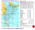 米海軍台風16号進路予想図_警報ナンバー6(日本時間 9月19日06時)