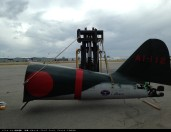 <零戦、日本への里帰り>ついに実現_里帰りする零戦22型「AI-112」_シアトル・タコマ港出港時画像1