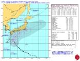 スーパー台風18号_米海軍進路予想-警報ナンバー22(日本時間10月4日12時)