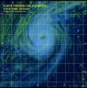 スーパー台風18号の人工衛星写真_日本時間10月4日08時32分時点