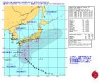 台風18号_米海軍進路予想-警報ナンバー21(日本時間10月4日06時)