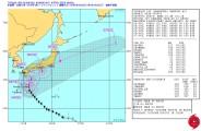 台風18号_米海軍進路予想-警報No.23(日本時間10月4日18時)