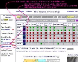 台風18号_米海軍NRL-TropicalCyclonePage台風進路予想へのアクセス・閲覧方法解説図