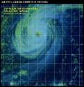 台風18号衛星写真_日本時間10月4日14時32分時点