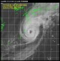 台風18号衛星写真_日本時間10月5日02時32分の台風18号衛星画像