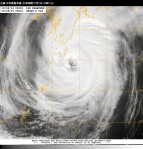 台風18号衛星写真_日本時間10月5日13時01分