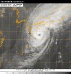 台風18号衛星写真_日本時間10月5日20時01分
