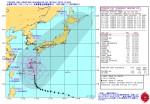 台風第19号(ヴォンフォン) 米海軍台風進路予想図_警報番号32_10月11日00時JST
