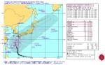 台風第19号(ヴォンフォン) 米海軍台風進路予想図_警報番号34_10月11日12時JST