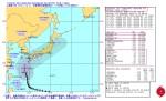 台風第19号(ヴォンフォン) 米海軍台風進路予想図_警報番号35_10月11日18時JST