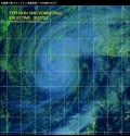 台風第19号(ヴォンフォン)衛星写真(11日08時32分JST)