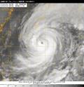 台風第19号(ヴォンフォン)衛星写真(10日18時JST)