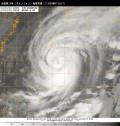 台風第19号(ヴォンフォン)衛星写真(11日00時01分JST)