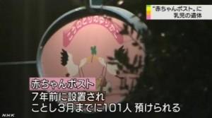 赤ちゃんポストに乳児の遺体、死体遺棄事件として警察が捜査(NHK10月4日2時16分)画像07